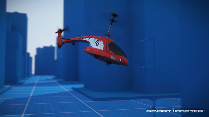 iCopter 3D video til EB Excalibur